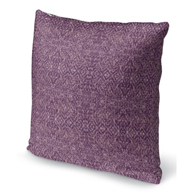 Dezirae Purple Throw Pillow Size: 16 H x 16 W x 6 D