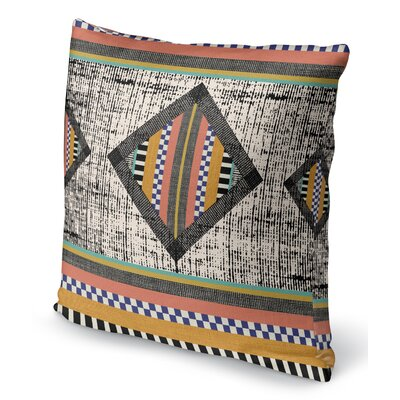 Wiggins Orange Throw Pillow Size: 16 H x 16 W x 6 D