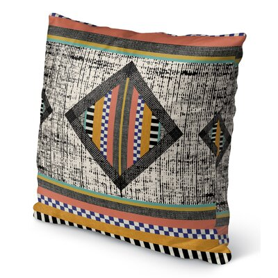 Wiggins Orange Indoor/Outdoor Throw Pillow Size: 16 H x 16 W x 6 D