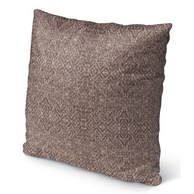 Dezirae Indoor/Outdoor Throw Pillow Size: 16 H x 16 W x 6 D, Color: Brown