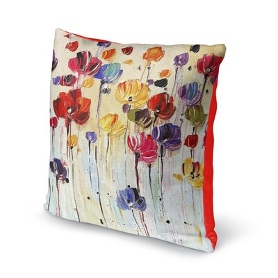 Isaiah Flowers Throw Pillow Size: 16 x 16