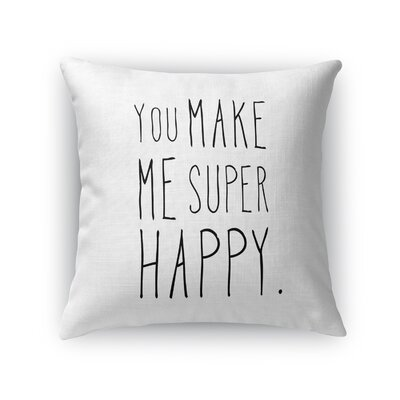 Inspired Indoor/Outdoor Throw Pillow Size: 16 H x 16 W x 8 D