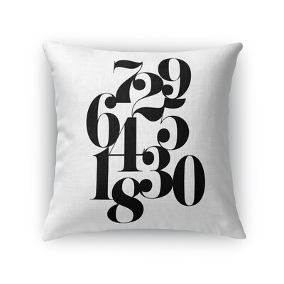 Hailie Numbers Indoor/Outdoor Throw Pillow Size: 24 H x 24 W x 8 D