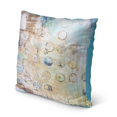 Someries Abstract Circles Indoor/Outdoor Throw Pillow Size: 16 H x 16 W x 8 D