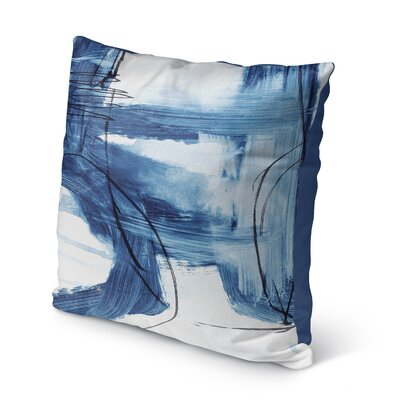 Kingston Blue Indoor/Outdoor Throw Pillow Set Size: 16 H x 16 W x 8 D