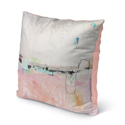 Lyka Pink Indoor/Outdoor Throw Pillow Size: 16 H x 16 W x 8 D
