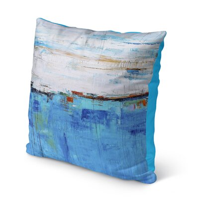 Franco Blue Sea Indoor/Outdoor Throw Pillow Size: 16 H x 16 W x 8 D