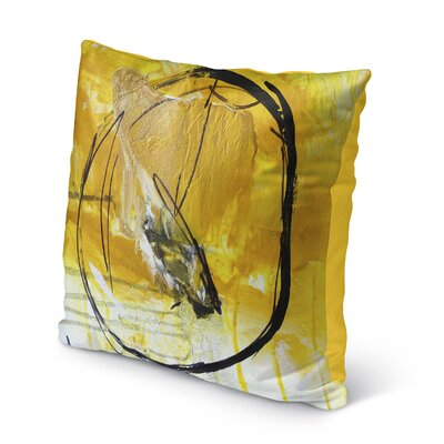 Charlot Gold Indoor/Outdoor Throw Pillow Size: 16 H x 16 W x 8 D