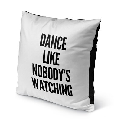 Shubert Alley Watching Indoor/Outdoor Throw Pillow Size: 16 H x 16 W x 8 D