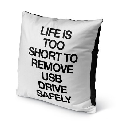 Dayville Usb Drive Indoor/Outdoor Throw Pillow Size: 16 H x 16 W x 8 D