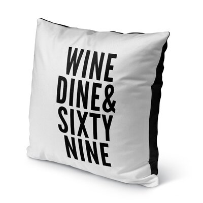 Benedetti Sixtynine Indoor/Outdoor Throw Pillow Size: 16 H x 16 W x 8 D