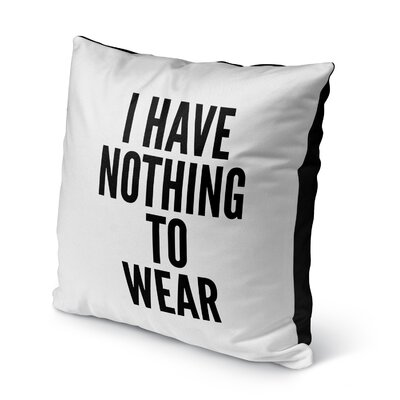 Deangelis Nothing Indoor/Outdoor Throw Pillow Size: 16 H x 16 W x 8 D