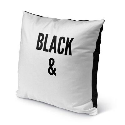 Daye B&W Indoor/Outdoor Throw Pillow Size: 16 H x 16 W x 8 D