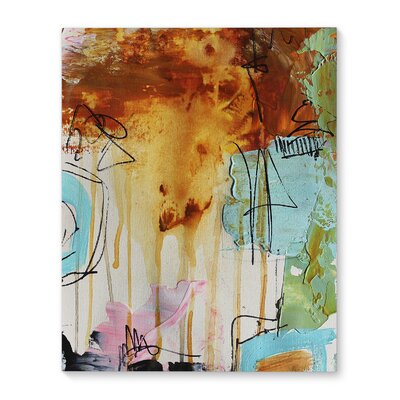 'Abstract Layers' Painting Print on Canvas Size: 20