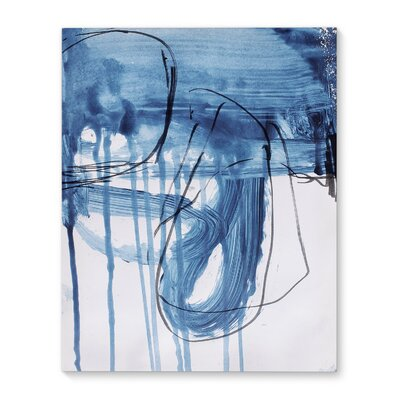 'Blue Abstract' Print on Canvas Size: 20