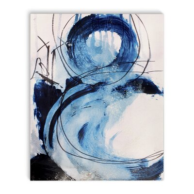 'Blue Abstract' Framed Print on Canvas