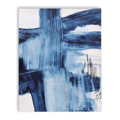 'Blue Abstract' Painting Print on Canvas