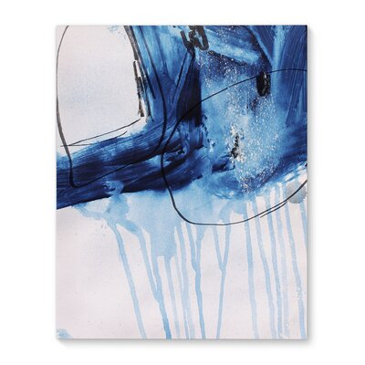 'Blue Abstract' Graphic Art Print on Canvas Size: 20