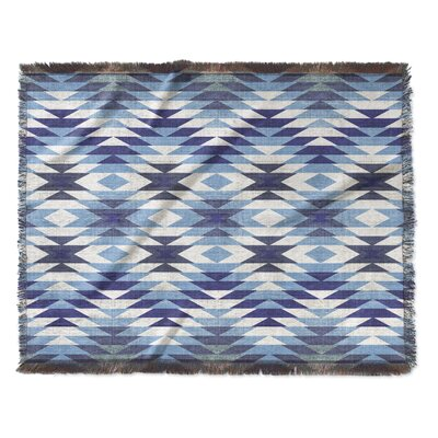 Bethesda Woven Blanket Size: 50 W x 60 L, Color: Blue