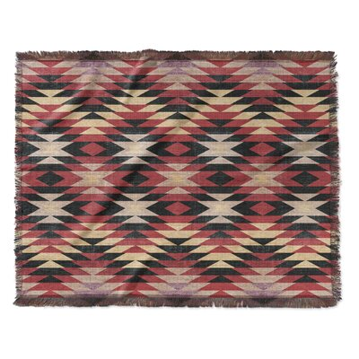 Bethesda Woven Blanket Size: 60 W x 80 L, Color: Red/Gray