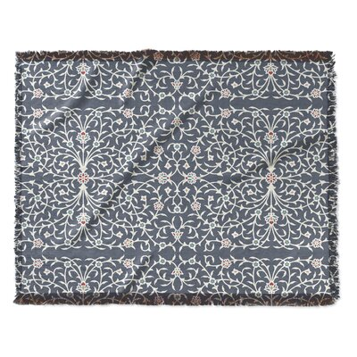 Elizebeth Woven Blanket Size: 50 W x 60 L, Color: Gray/Ivory