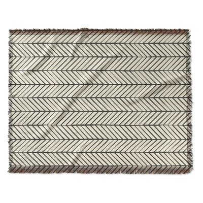 Diana Woven Blanket Size: 50 W x 60 L
