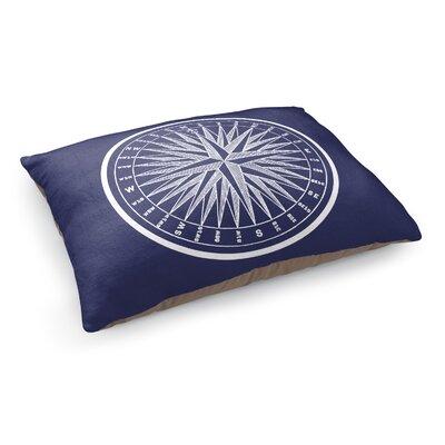 Nautical Compass Pet Bed Pillow