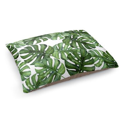 Tropical Leafs Pet Bed Pillow Color: Green/White