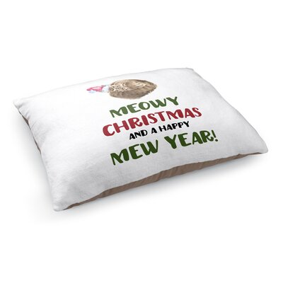 Meowy Christmas Pet Bed Pillow