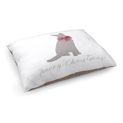Dwight Meowy Christmas Dog Pet Bed Pillow Color: Grey/ Red