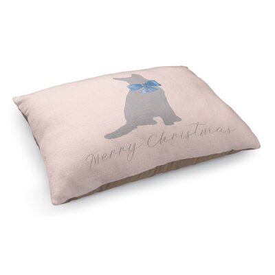 Meowy Christmas Dog Pet Bed Pillow Color: Pink/Gray/Blue