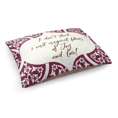 Fibers of Joy Pet Bed Pillow Color: Purple/Ivory