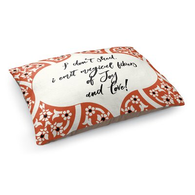 Fibers of Joy Pet Bed Pillow Color: Orange/ Ivory