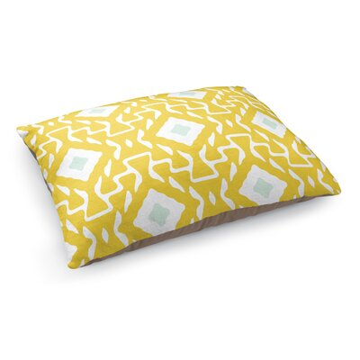 Clementine Pet Bed Pillow Color: Yellow/Blue/White