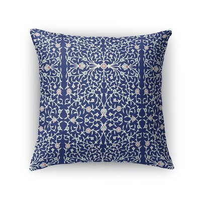 Elizebeth Throw Pillow Size: 16 x 16, Color: Blue