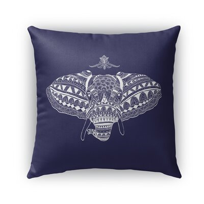 Elizabella Elephant Indoor/Outdoor Throw Pillow Size: 16 x 16