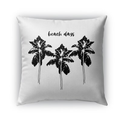 Indoor/Outdoor Euro Pillow Color: Black