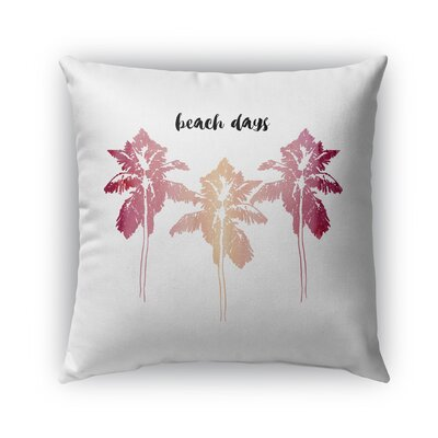 Square Indoor/Outdoor Throw Pillow Size: 18 x 18, Color: Pink/Blush/White