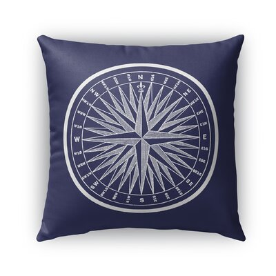 Melton Compass Indoor/Outdoor Throw Pillow Size: 16 x 16