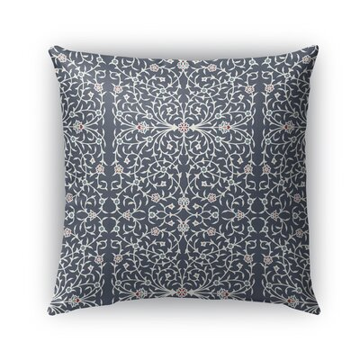 Elizebeth Indoor/Outdoor Throw Pillow Size: 18 x 18, Color: Gray