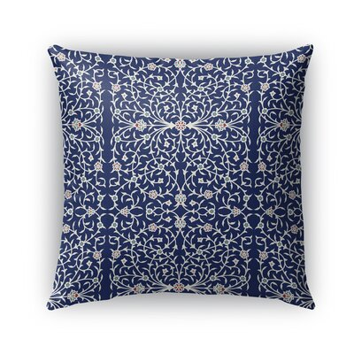Elizebeth Indoor/Outdoor Throw Pillow Size: 18 x 18, Color: Blue