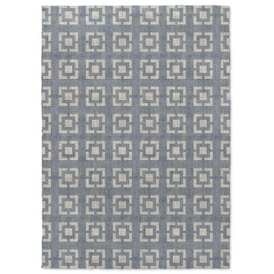 Widcombe Minimal Window Gray Area Rug Rug Size: 5 x 7