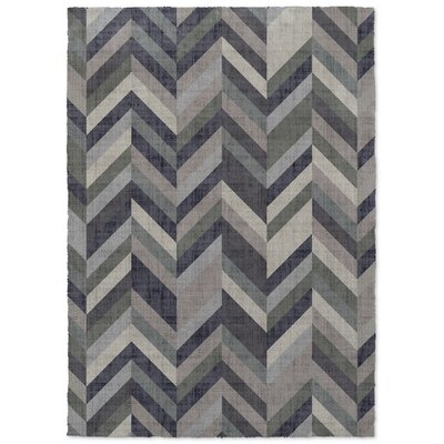 Enya Gray/Green Area Rug Rug Size: 2 x 3