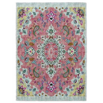 Dante Pink/Blue/Yellow Area Rug Rug Size: 5 x 7