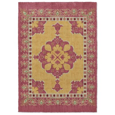 Marco Red/Yellow Area Rug Rug Size: 5 x 7