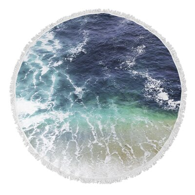 Single Sided Print Round Beach Towel