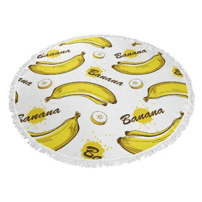 Banana Round Beach Towel