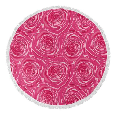 Ace Bed of Roses Round Beach Towel