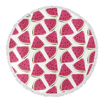 Water Melon Round Beach Towel
