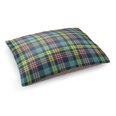 Book Plaid Pet Bed Pillow